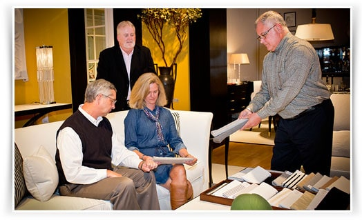 Shannon Neal with Clients at a Private Furniture Showroom in High Point NC